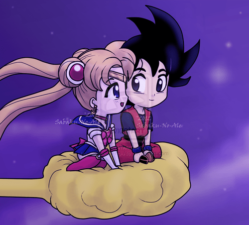 crossover,anime,Fan Art,Dragon Ball Z,sailor moon