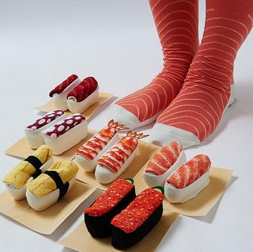 poorly dressed sushi socks - 8293039104