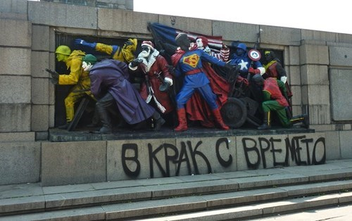 graffiti,hacked irl,superheroes
