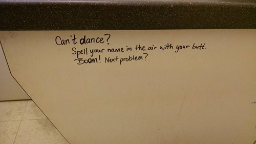 Bathroom Graffiti,wisdom,graffiti,g rated,win