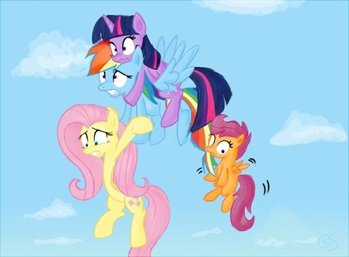 twilight sparkle fluttershy Scootaloo rainbow dash - 8293338112