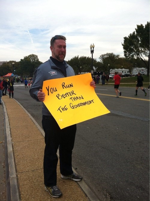 marathon signs,the government,running