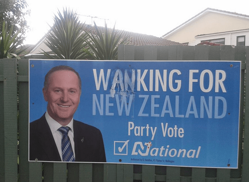elections,election signs,new zealand