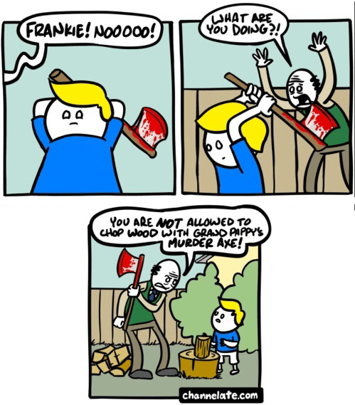 yikes axes wood web comics - 8293999104