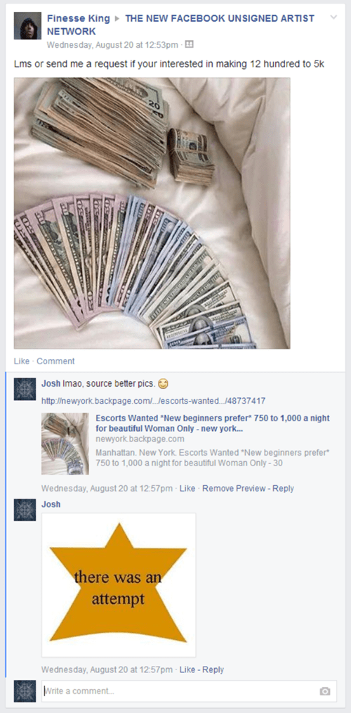 failbook fake nice try money - 8294003456