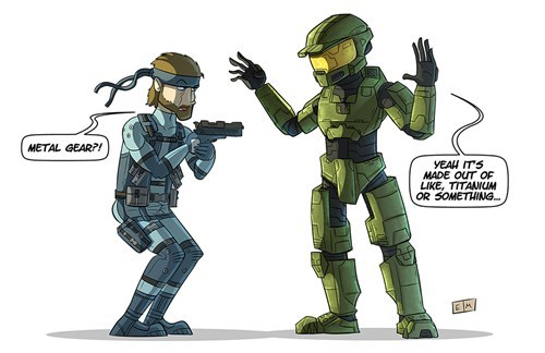 master chief solid snake halo video games