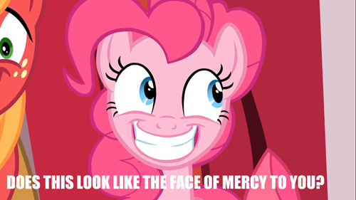 innocent,death stare,pinkie pie