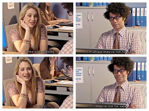 flirting,moss,the IT crowd,funny