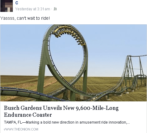 the onion,satire,roller coaster