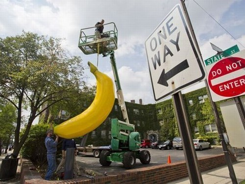 monday thru friday,banana,cherry picker,giant banana