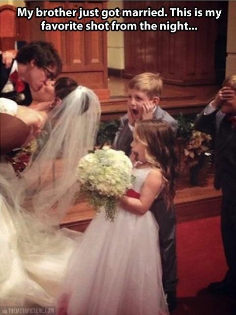kids funny wedding photos parenting wedding kissing - 8294262272