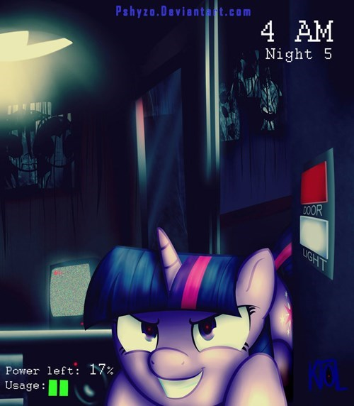 Fan Art,twilight sparkle,video games,five nights at freddy's