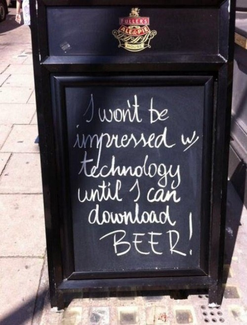 beer sign technology pub funny - 8294473728