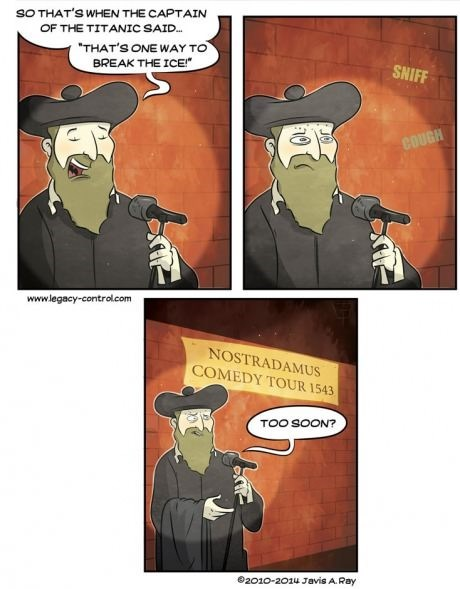 stand up comedy nostradamus web comics