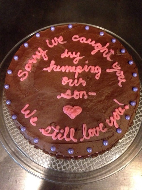 cake Awkward parenting apology dating