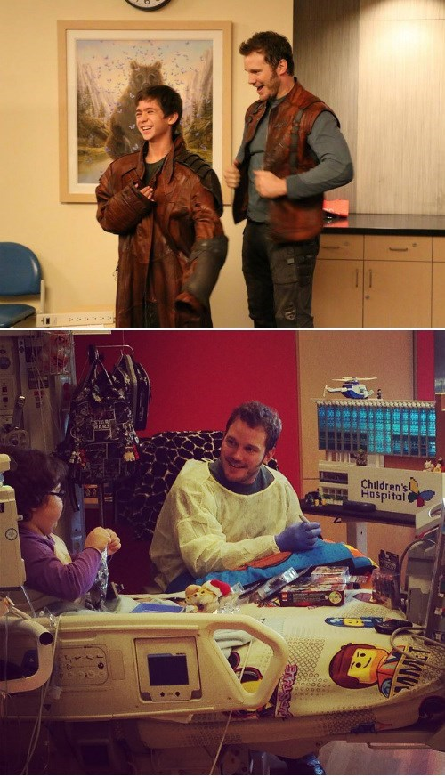 guardians of the galaxy,childrens hospital,star-lord,chris pratt