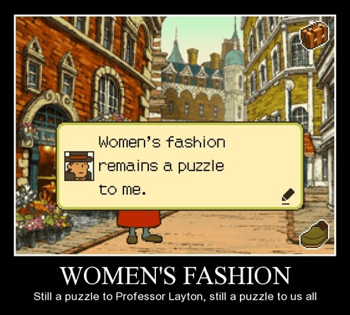 fashion,professor layton,funny,women