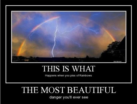 Thor lightning funny rainbow - 8295091968
