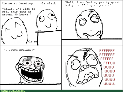 rage trollface gamestop video games - 8295107840