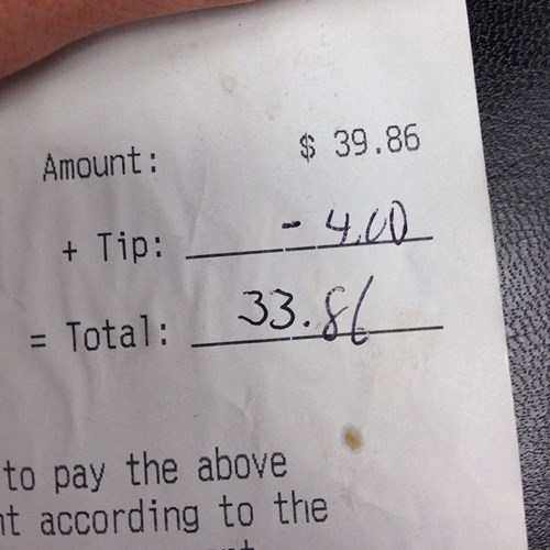 monday thru friday tips waiter math receipt g rated - 8295173376