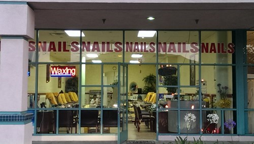 monday thru friday nails sign snail - 8295220992