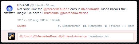 Ubisoft,twitter,mario kart 8,mercedes benz