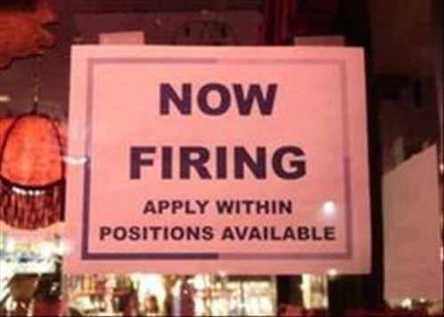 monday thru friday sign now hiring misspelling spelling g rated
