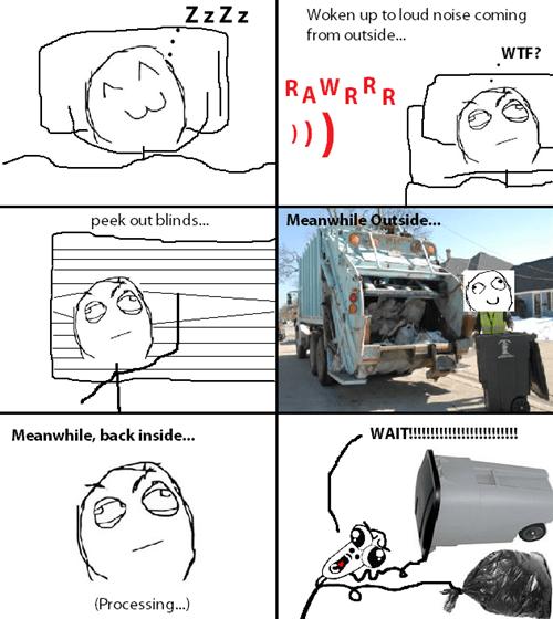garbage noise sleeping - 8296064512