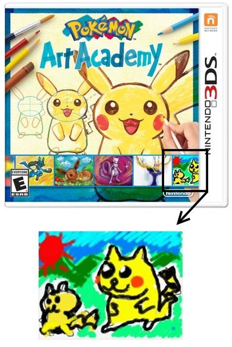 Pokémon,art academy,pikachu