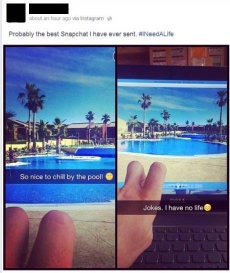 snapchat facebook vacation - 8296114176