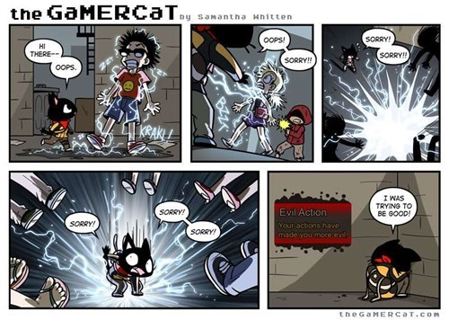 the gamer cat web comics