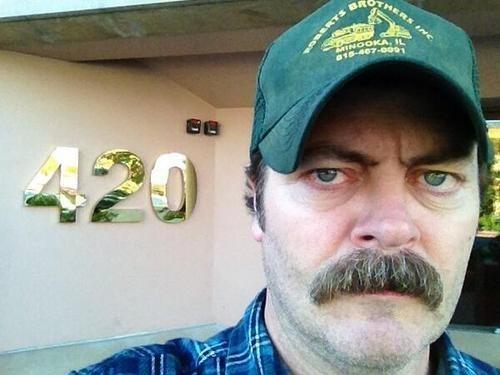 420 ron swanson Nick Offerman - 8296224768
