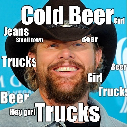 beer Music country country music Toby Keith trucks