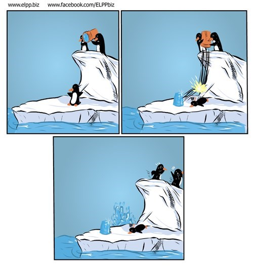 als penguins critters ice bucket challenge web comics - 8296334080