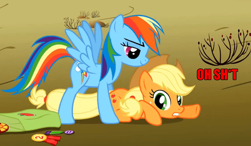 applejack that looks naughty rainbow dash - 8297066240