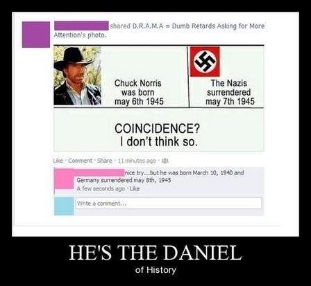 history daniel chuck norris funny - 8298295552