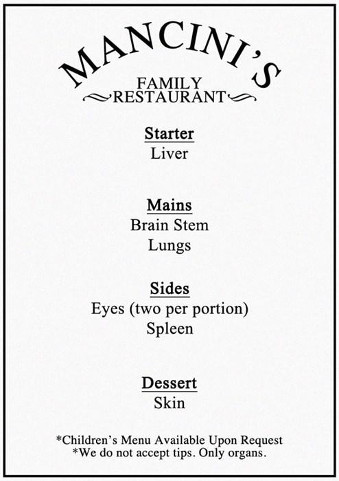 menu restaurant 12th Doctor - 8298664704