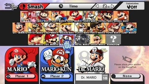 Smash Bros leaks.