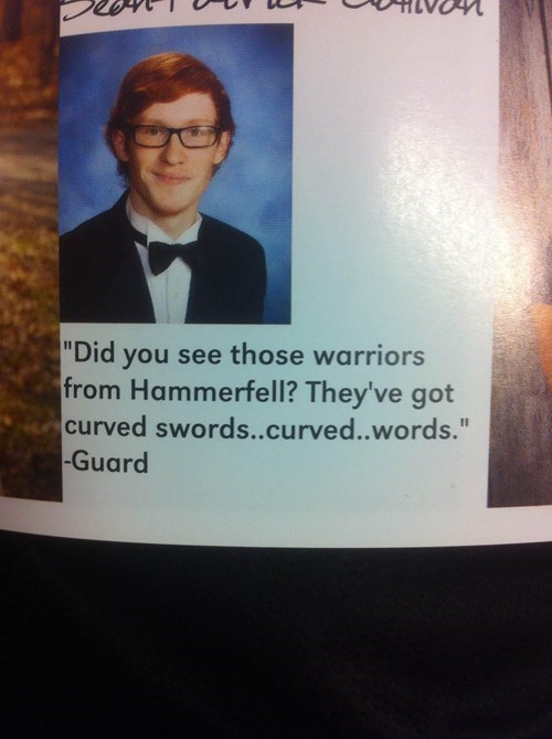 nerds yearbook quote funny g rated School of FAIL
