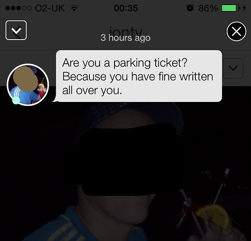 pickup lines fine parking ticket funny dating - 8299333376
