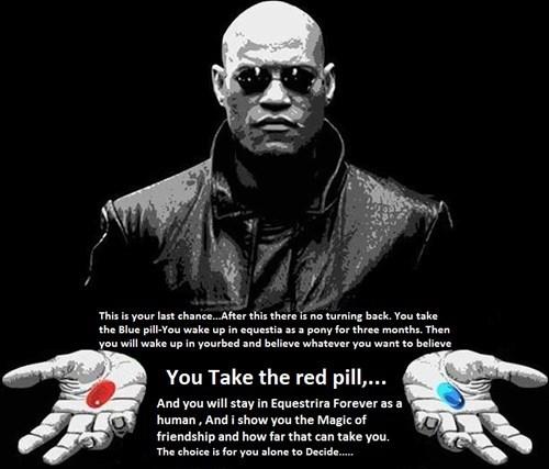 hard choices red pill Morpheus equestria - 8299403776
