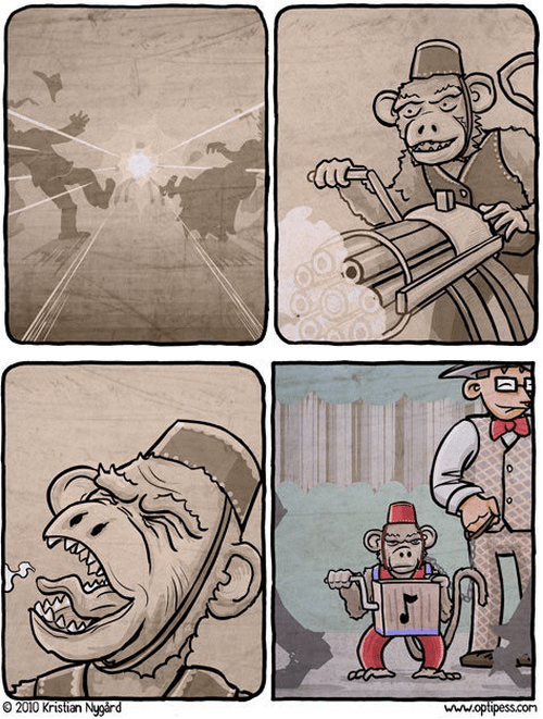 guns monkeys dreams web comics - 8299820800