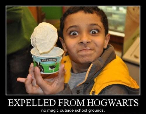 floating ice cream funny Hogwarts - 8299845632