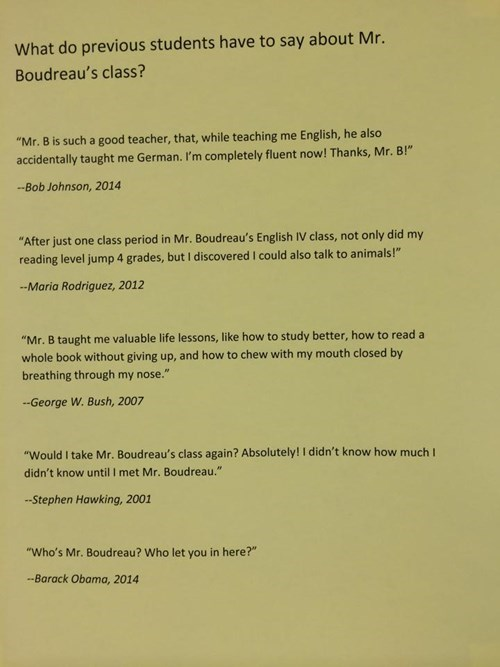 reviews george w bush president teacher barack obama funny g rated - 8299885056