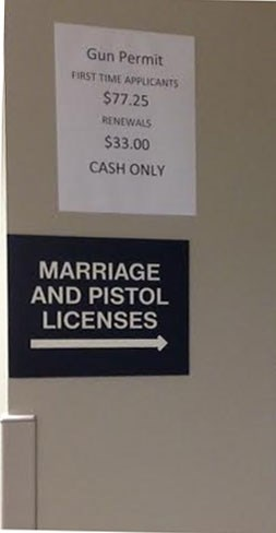 marriage pistol funny license - 8299932416