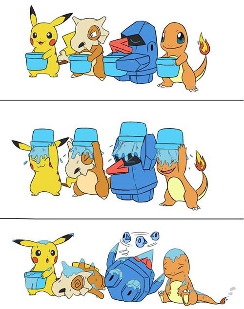 als Pokémon cubone nosepass charmander pikachu ice bucket challenge - 8299977216