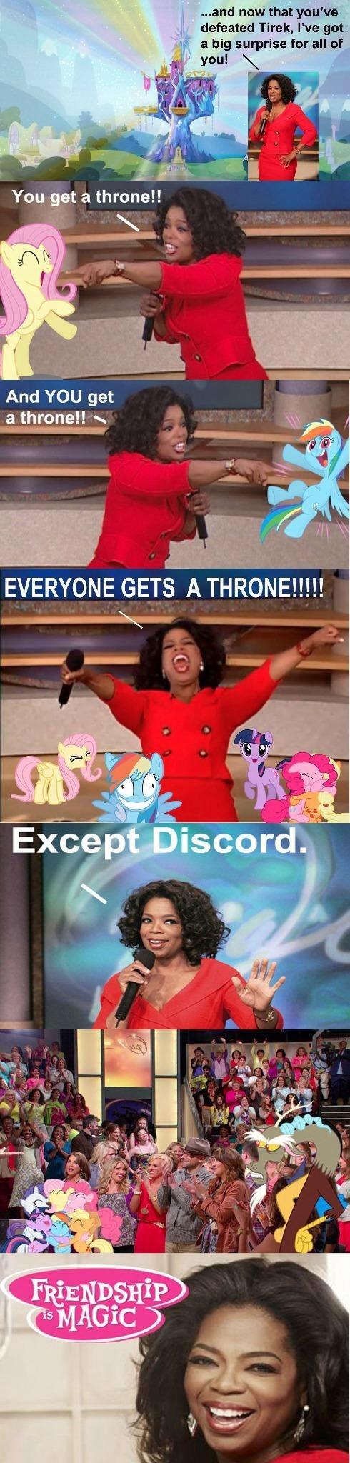 mane 6,discord,oprah