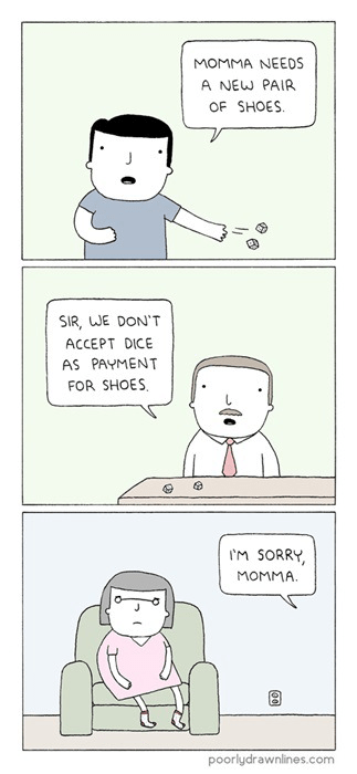 shoes,expressions,dice,no dice,web comics