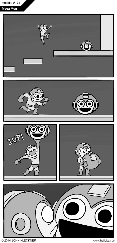 creepy,mega man,extra life,hejibits,web comics