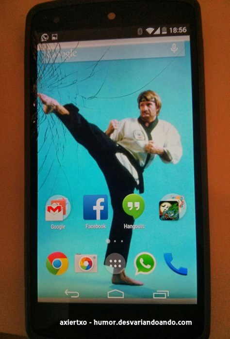 phone,wallpaper,chuck norris,failbook